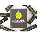 Mental Mojo: Rocket Fuel For Your Brain - Super Nootropic Drink Powder Brain Supplement - Patent-Pending Brain Booster Supports Mental Clarity, Memory, Energy and Focus (Kiwi Strawberry Clarity)