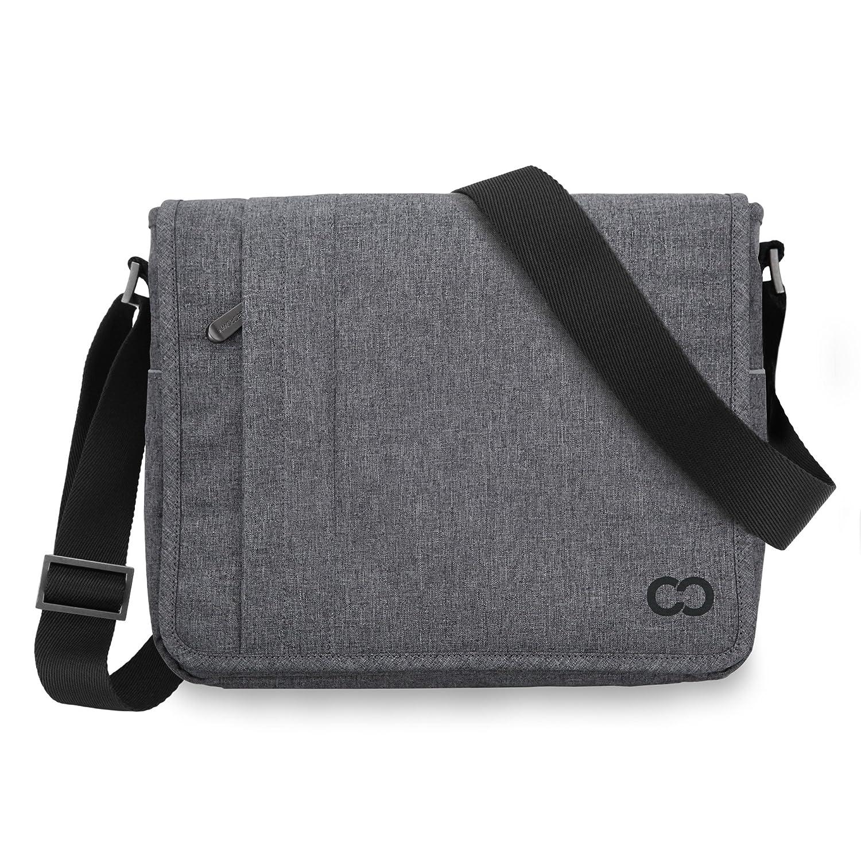 12 Inch Macbook Bag, CaseCrown Campus Messenger Bag (Charcoal Gray)