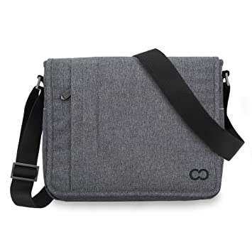 12 Inch MacBook Bag CaseCrown Campus North Messenger Charcoal Gray