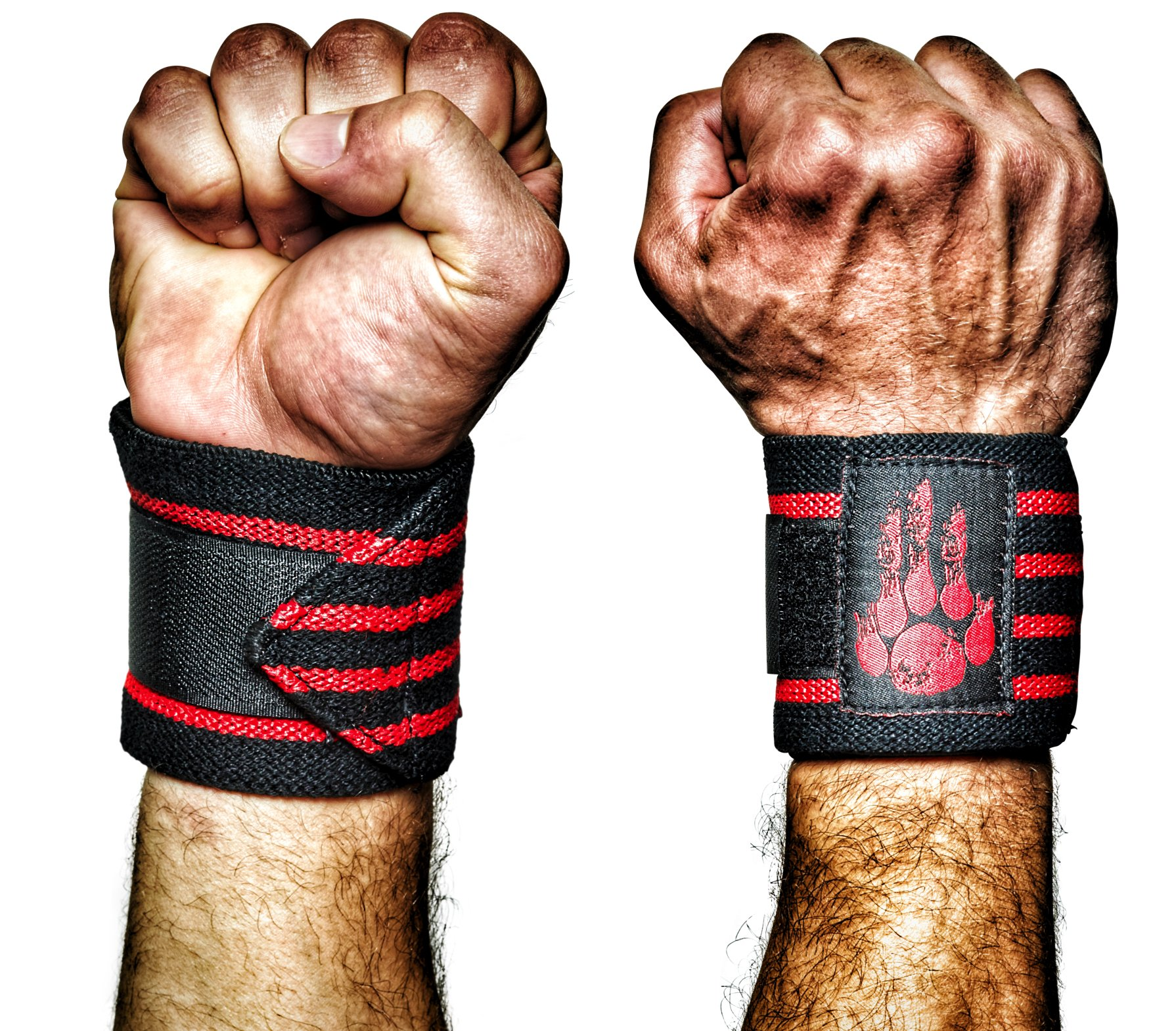 MANIMAL: The Best Weightlifting Straps with Superior Wrist Support, 1 Wrist Wraps Trusted by Professional Powerlifting, Strongman, Crossfit and Olympic Athletes - Ravenous