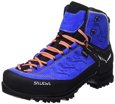 Salewa Rapace Gtx Noir-Vert-Bleu marine - Chaussures Chaussures-de-randonnee Homme