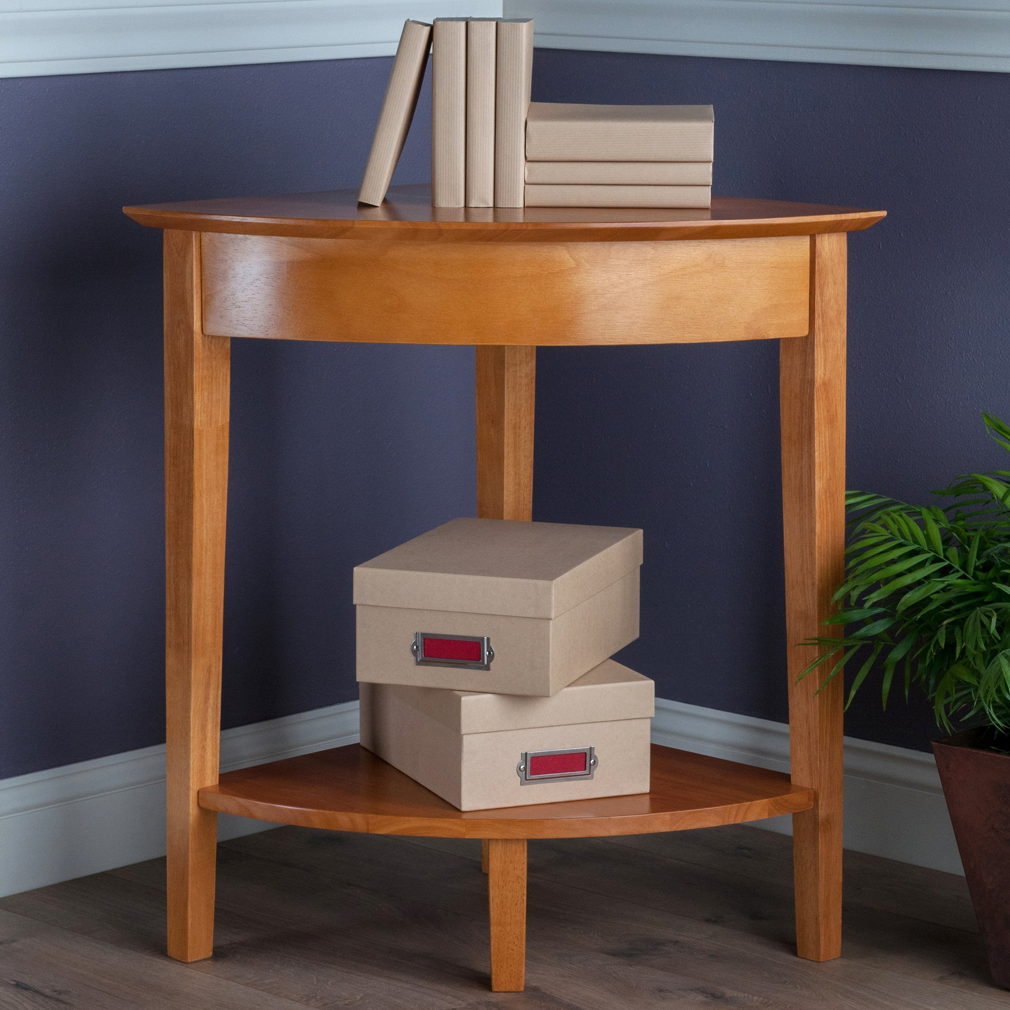 Winsome Wood Corner Desk with Shelf, Honey by Winsome Wood (Image #2)