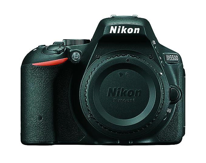 Nikon D5500 DX Format Digital SLR Body  Black  with Card and D SLR Bag DSLR Cameras