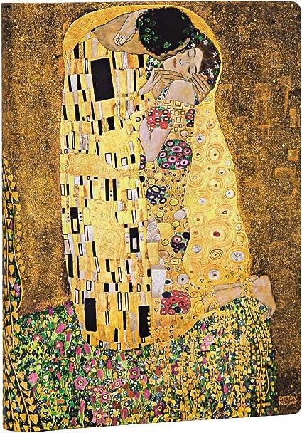 Il Bacio Righe Paperblanks Diari a Copertina Rigida Centenario di Klimt Midi 130 /× 180 mm