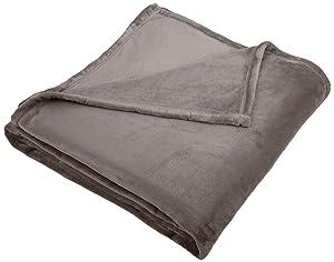 Pinzon Velvet Plush Blanket - Full or Queen, Grey