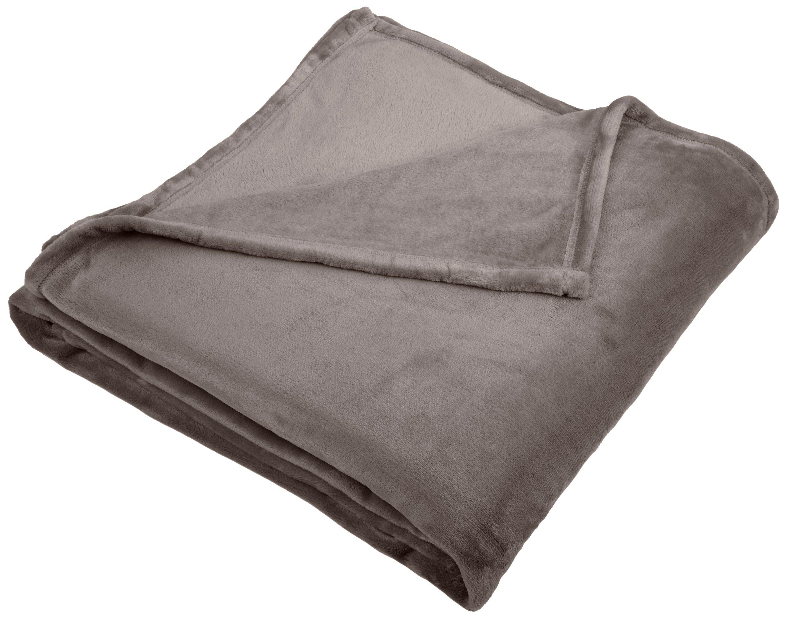 Pinzon Velvet Plush Blanket - Full/Queen, Grey