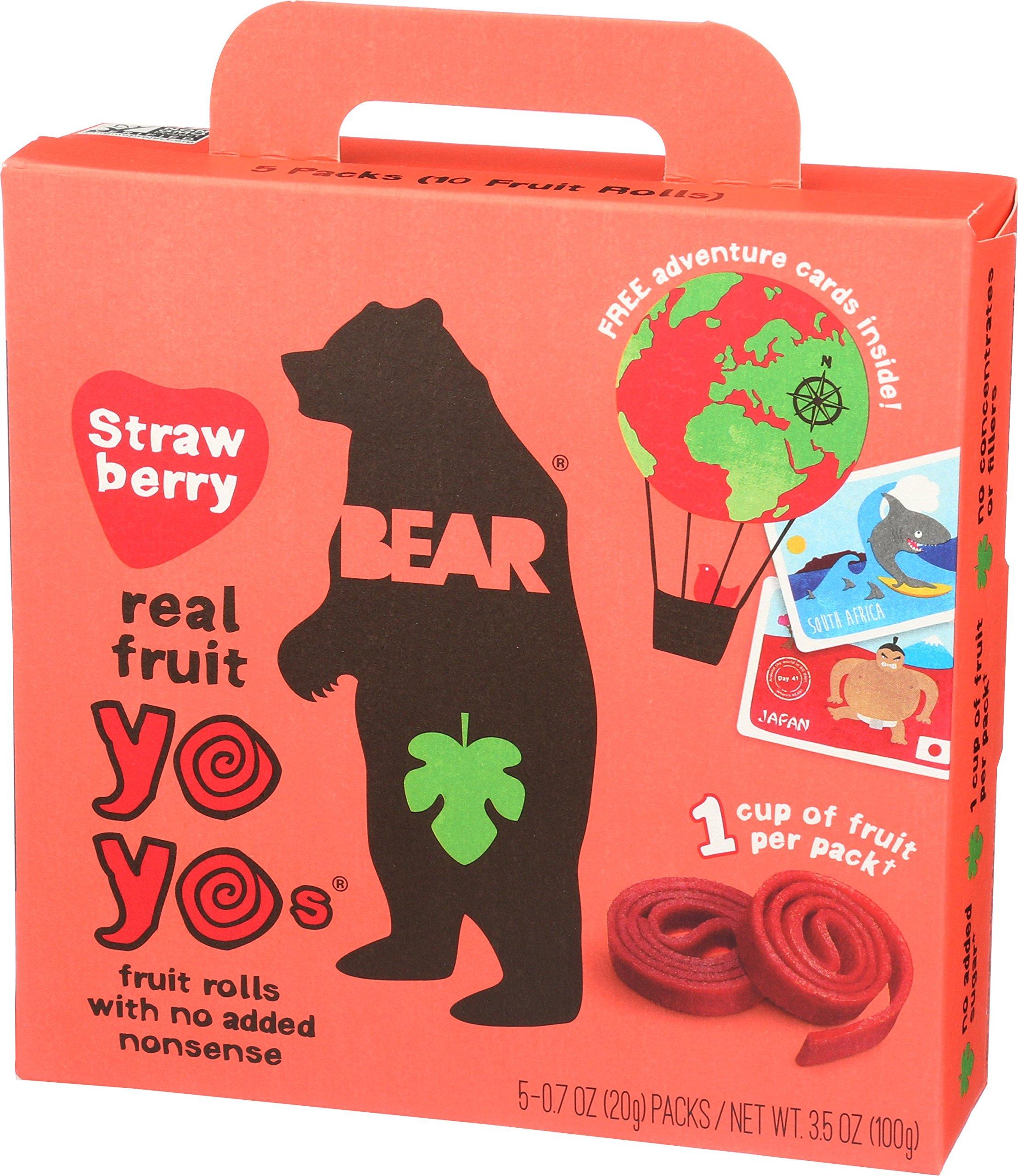 Bear Yoyo Fruit Roll Strawberry Multipack, 3.5 oz