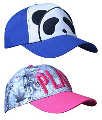 bc846f61b3e Zacharias Unisex Cotton Printed Baseball Cap Pack of 2 Free Size 5887   Amazon.in  Clothing   Accessories