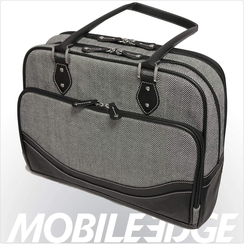 Mobile Edge Women's Herringbone Chromebook / Laptop Handbag Tote, Black, 14 Inch, Padded, Tablet Section, Business, Student MEWHCS
