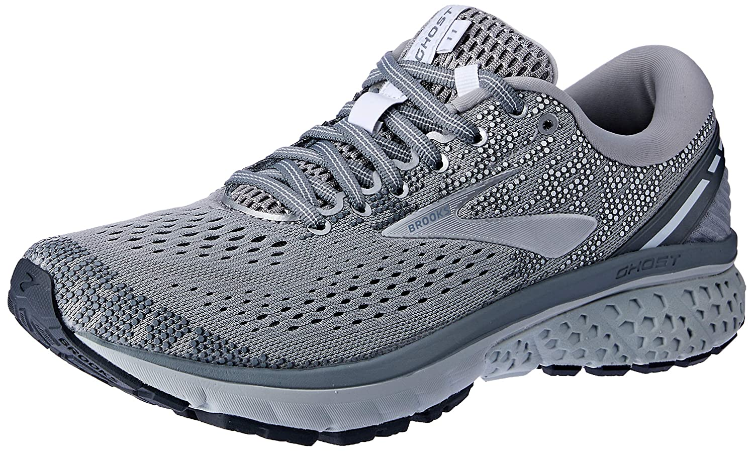 Grey Silver White Brooks Women's Ghost 11 Running shoes