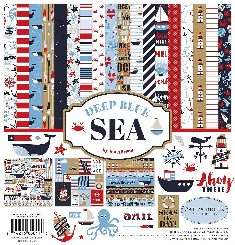Carta Bella Collection Kit 12X12-Deep Blue Sea
