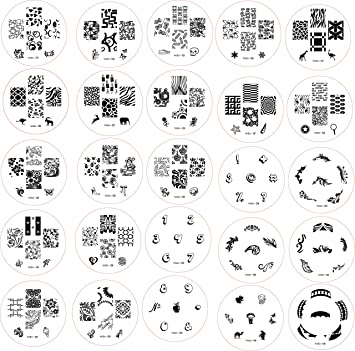 Amazon best price princes set of 25 nail art designs stamps best price princes set of 25 nail art designs stamps stamping manicure image plates stencils prinsesfo Choice Image