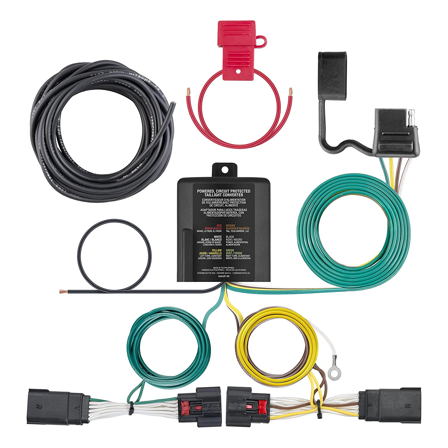 CURT Manufacturing 56407 Custom Vehicle Trailer Wiring Harness for Towing