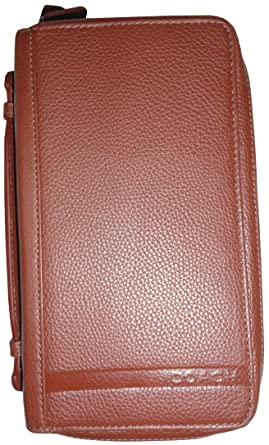 Coach Mens Camden Pebble Leather Double Zip Around Travel Organizer