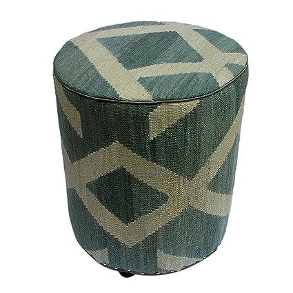 Amazon Com Arshs Fine Rugs Davis Gray Ivory Kilim Upholstered