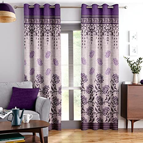 """Story@Home Elegant Look Top Border Design Bottom Circles Pattern 1 Piece Window Curtains, Window Panel 5 Feet 48"""" X 60"""" - Brown Curtains at amazon"""