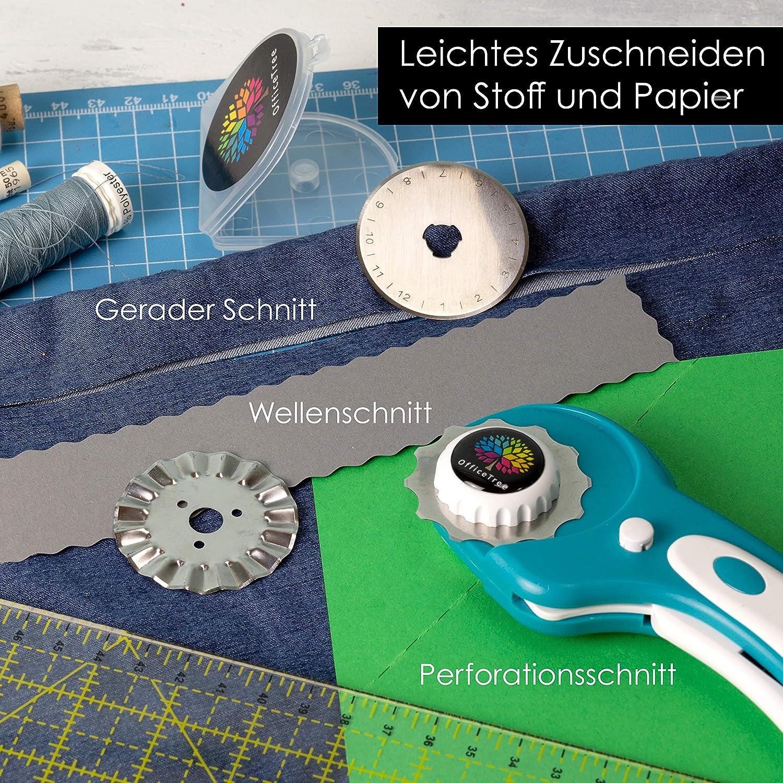 45mm rollschneider set mit 5 s/ätzen ersatz schneidmesser stoff papier vinyl rund quilten schneiden patchwork n/ähen werkzeuge