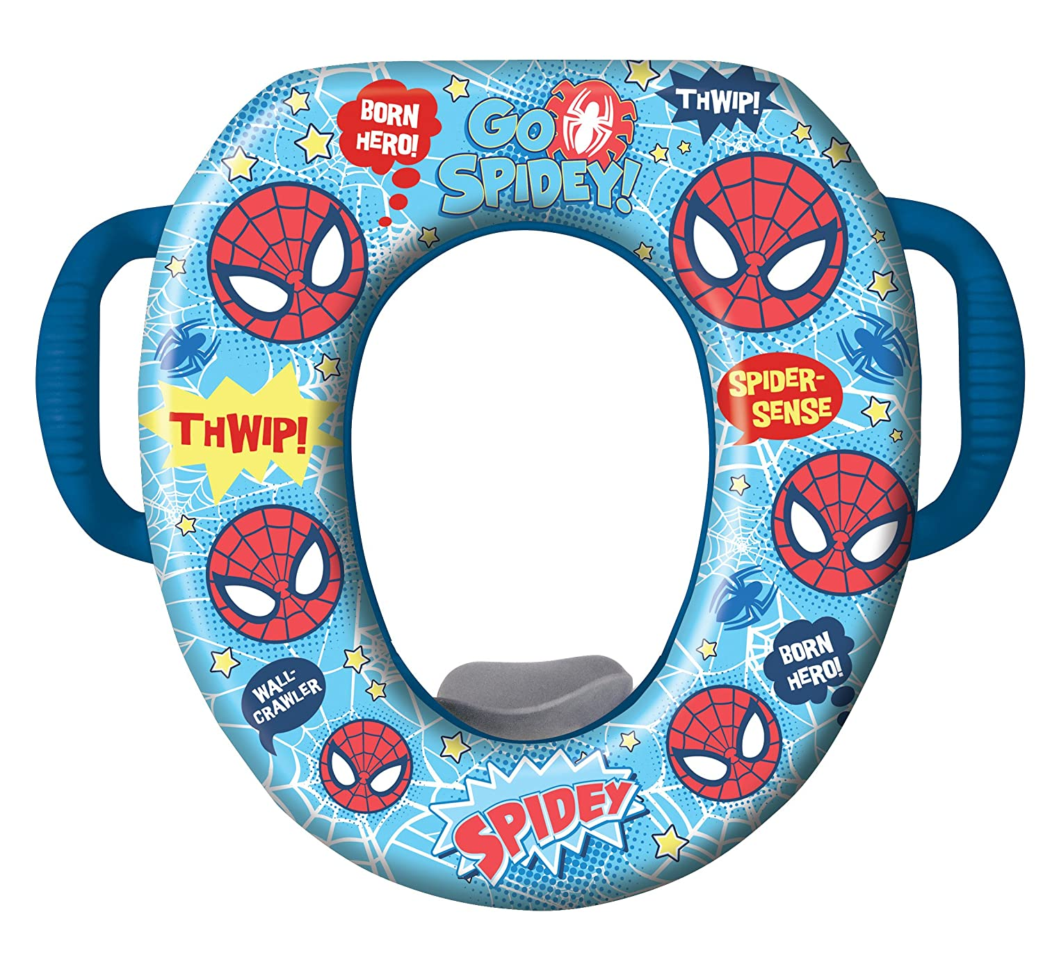 Amazon com  Marvel Ultimate Spiderman Potty Seat Padded Soft and Durable For Regular Elongated Toilets Removable Cushion for Easy Cleaning