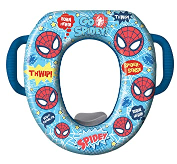 marvel ultimate spiderman potty seat padded soft and durable for regular and elongated