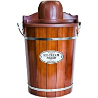 Nostalgia ICMP600WD Vintage Collection Old Fashioned 6 Quart Wood Bucket Ice Cream Maker