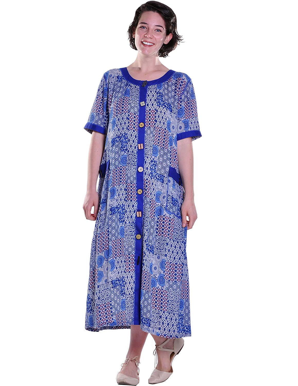 LA CERA Short Sleeved Button Front Dress