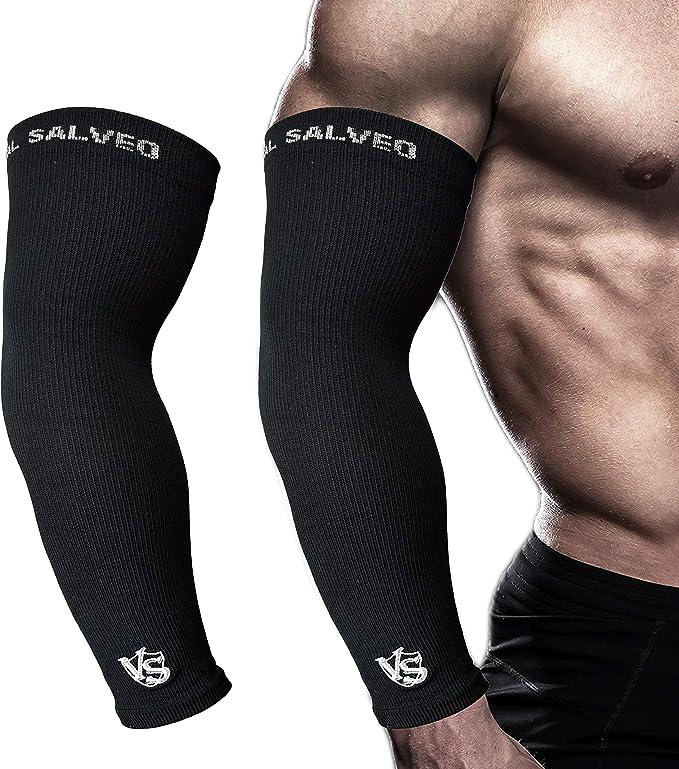 LIOOBO 1 Paar Arm /Ärmel Sport UV Schutz Atmungsaktiv Arm Sleeves Armstulpen f/ür Radfahren Running Gartenarbeit Rose Tarnung