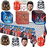 Star Wars The Last Jedi Birthday Supplies Party Pack Bundle
