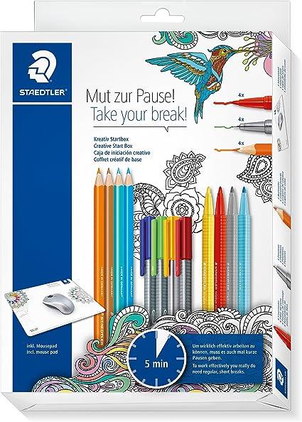 Staedtler 61 SET 2mzp Set Creativo coraje para Pause, diseño triangular ergonómico, estuche de cartón con lápices: Amazon.es: Oficina y papelería