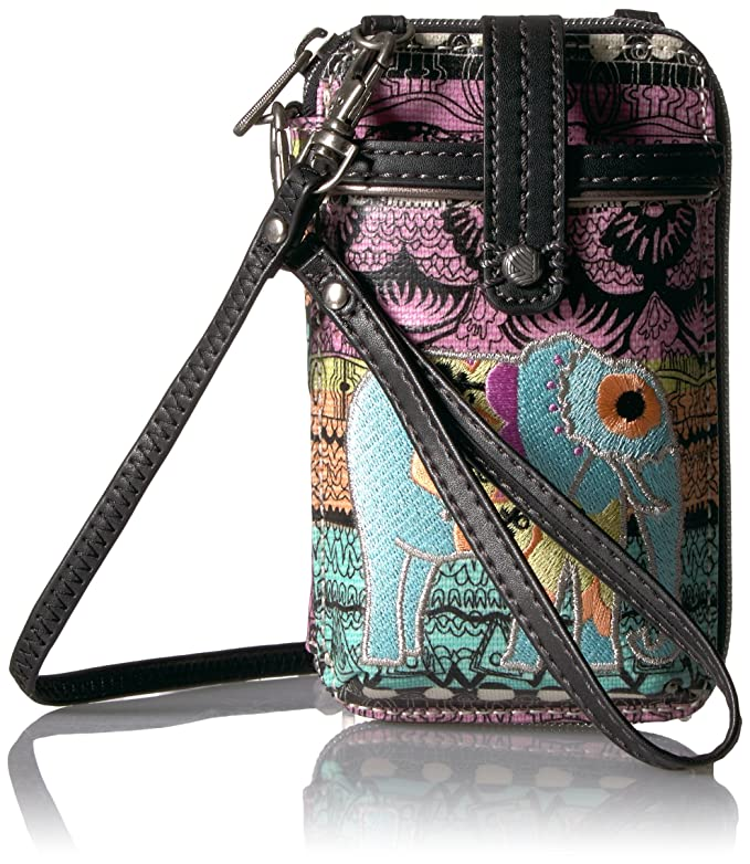 4786691f2e66 Sakroots Artist Circle Smartphone Wristlet Convertible Cross Body Bag  (Aqua)  Handbags  Amazon.com