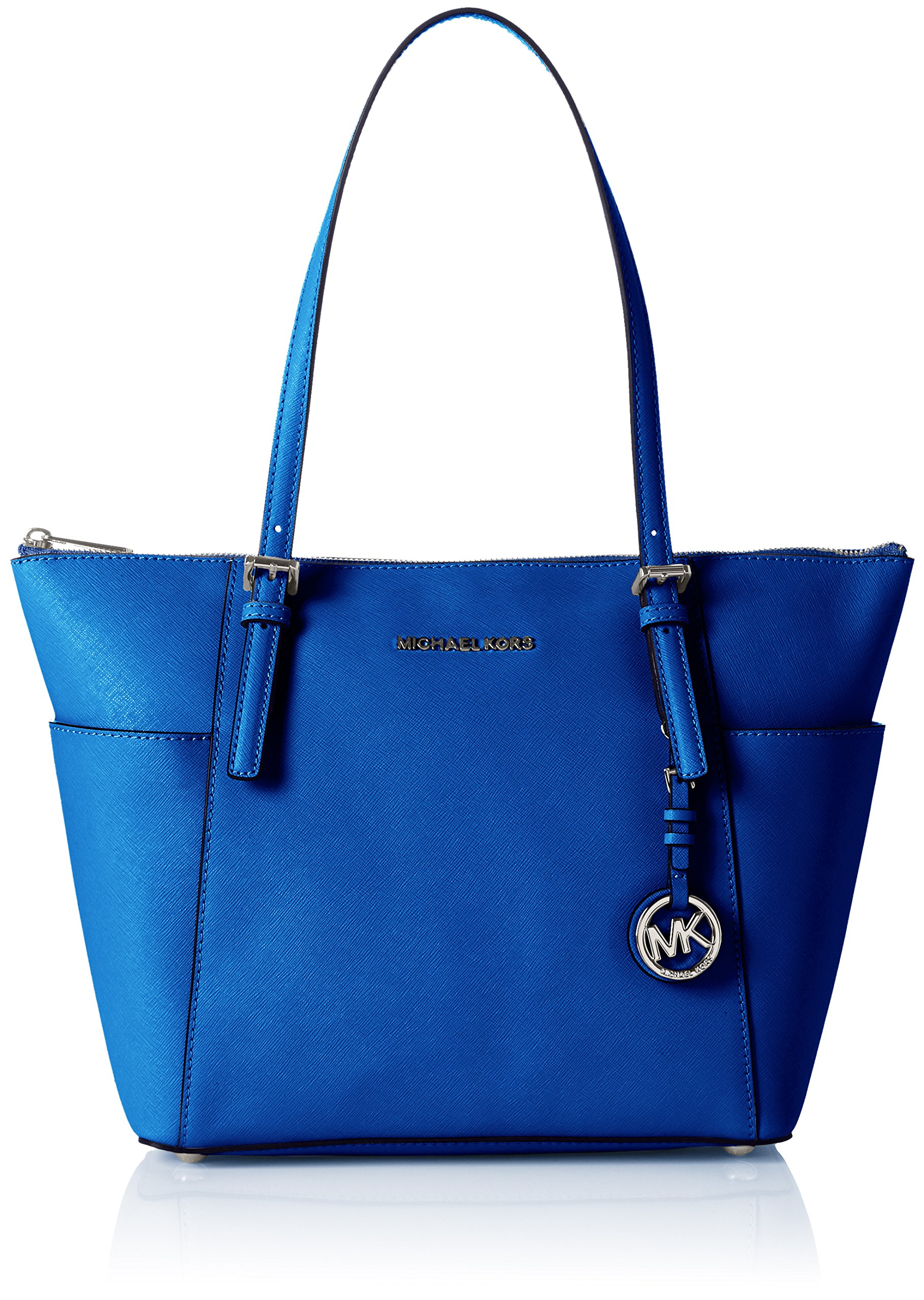 MICHAEL Michael Kors Jet Set Top-Zip Tote (One Size, Electric Blue)