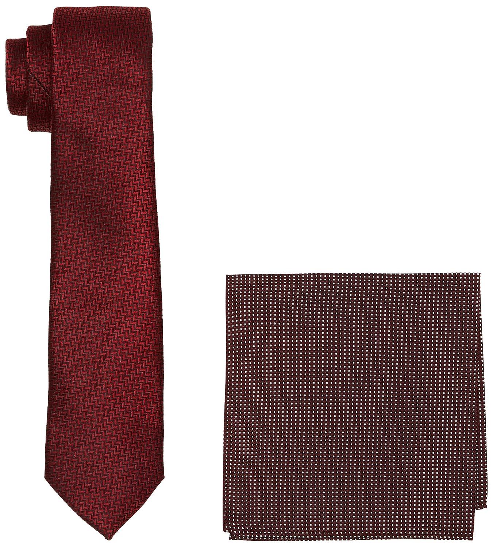 9f4c6867442b Burton Menswear London Men's Textured Set Ties, Red (Burgundy), One Size:  Amazon.co.uk: Clothing