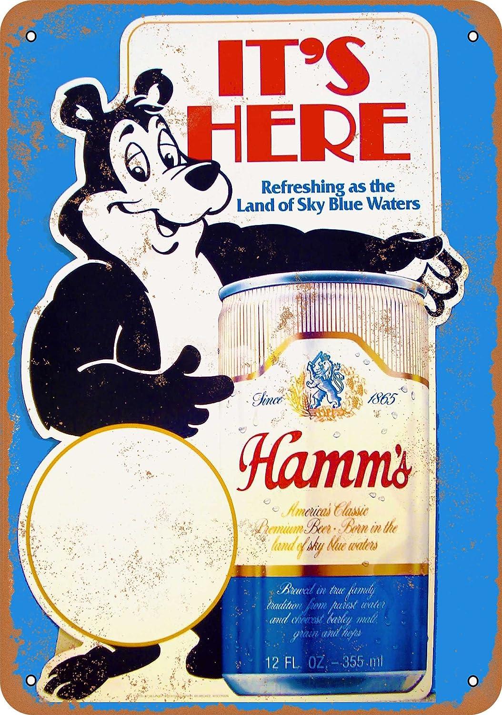 """Hamm/'s Beer  9/"""" x 12/"""" Sign"""