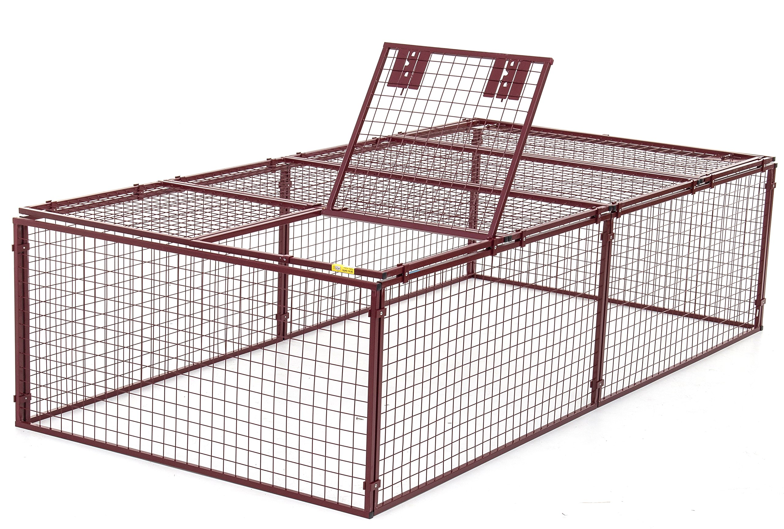 Animal House Heavy Duty Outdoor Kennel Predator Proof (2.5' Hx10'Lx5'W) 116.8 lbs