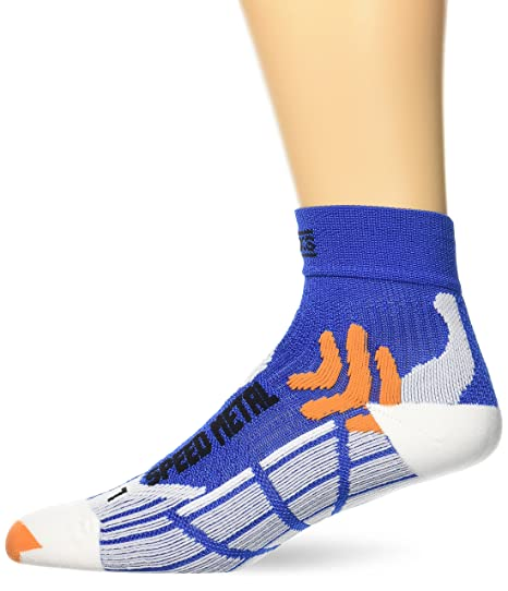 X-Socks Speed Metal – Calcetines para Hombre, Color Cobalt/Blanc, tamaño