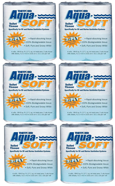 Thetford 03300 aqua-soft Toilet Tissue 2重/4 -パック数量6 B00YBG08YW