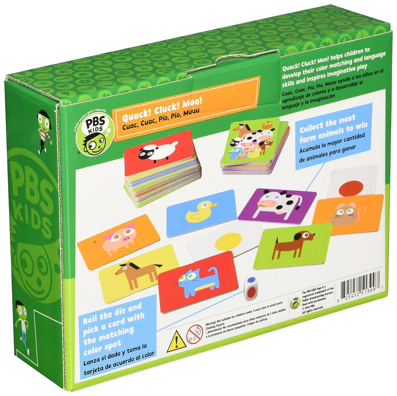 Amazon.com: PBS 825452513997 Quack! Cluck! Moo! Board Game ...