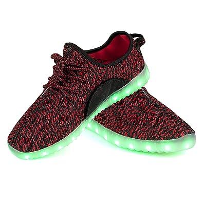 LEADFAS LED Schuhe, 7 Farben Leuchten Sneaker Männer Frauen Sport Draussen  Sportlich USB Aufladungs Trainer