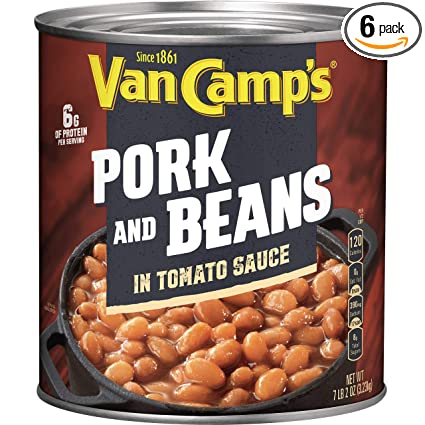 Amazon Com Van Camp S Pork And Beans 114 Oz Pack Of 6 Baked Beans Grocery Gourmet Food
