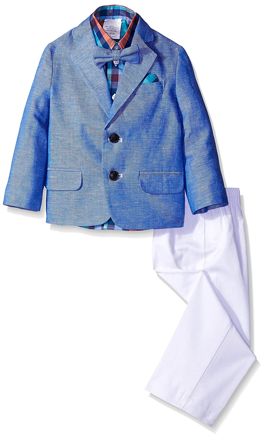Nautica Boys 4-Piece Suit Set with Dress Shirt Jacket Bow Tie and Pants