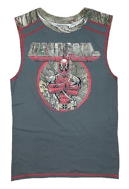 642debd5d Amazon.com: Marvel Comics Deadpool Realtree Camo Sleeveless Muscle ...