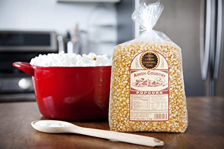 Amazon.com : Amish Country Popcorn - Extra Large Caramel Popcorn (6 Pound Bag) - Old Fashioned And Non-GMO With Recipe Guide and 1 Year Freshness Guarantee ...