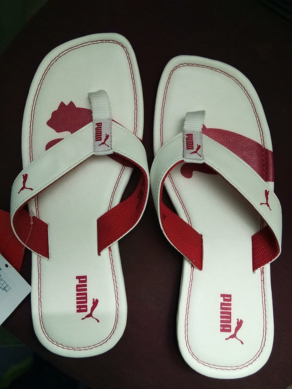 1bdd3ef7024 Puma Men s Drifter Cat DP White and High Risk Red Hawaii Thong Sandals - 9  UK India (43 EU)  Buy Online at Low Prices in India - Amazon.in