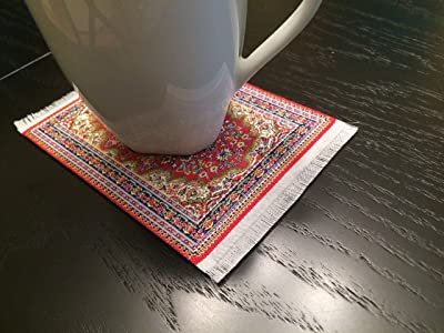 Decorative Coasters With Oriental Rug Design