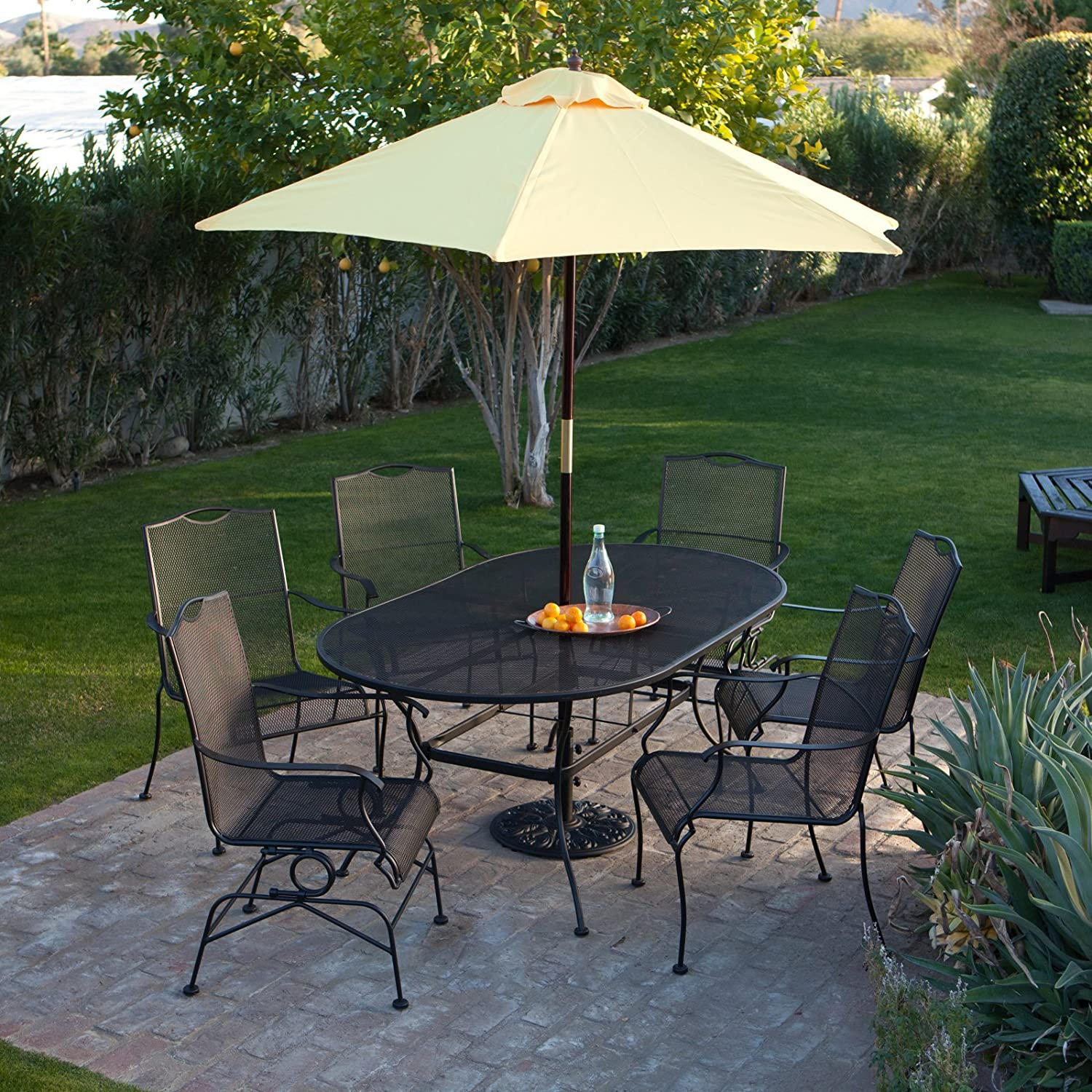 garden furniture metal size wrought with patio your full enhance piece of set iron s decor