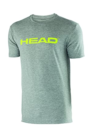 Head Ivan - Camiseta de Tenis para Hombre, Color Gris (Grey/Lime), Talla UK: Double Extra Large: Amazon.es: Deportes y aire libre