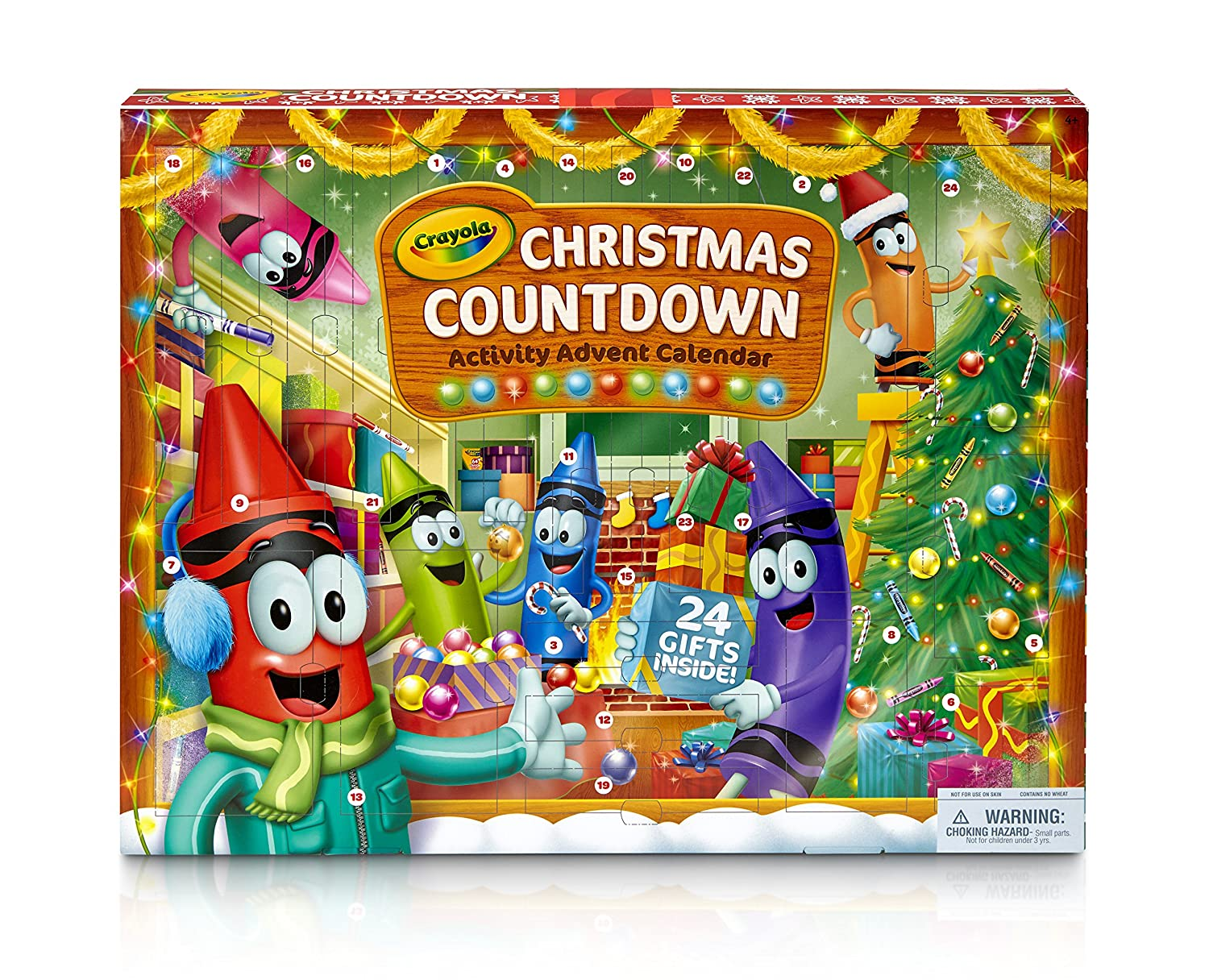 Christmas Countdown Calendar.Crayola Christmas Countdown Activity Advent Calendar