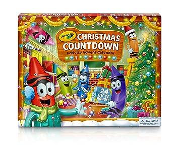 Calendario Countdown.Crayola Christmas Countdown Activity Advent Calendar