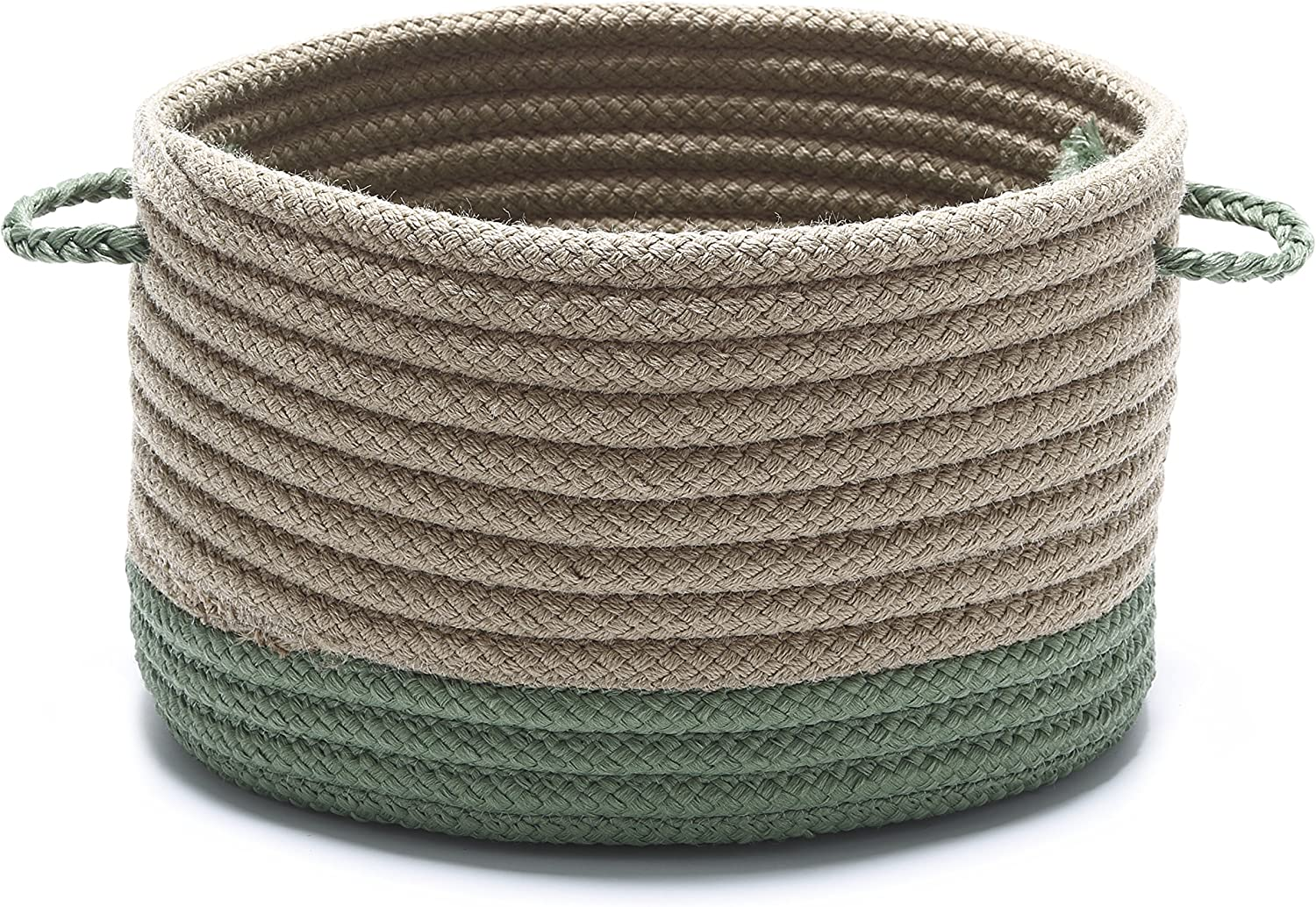 Marina Baskets Textured Basket 15 by 15 by 18-Inch Moss Green