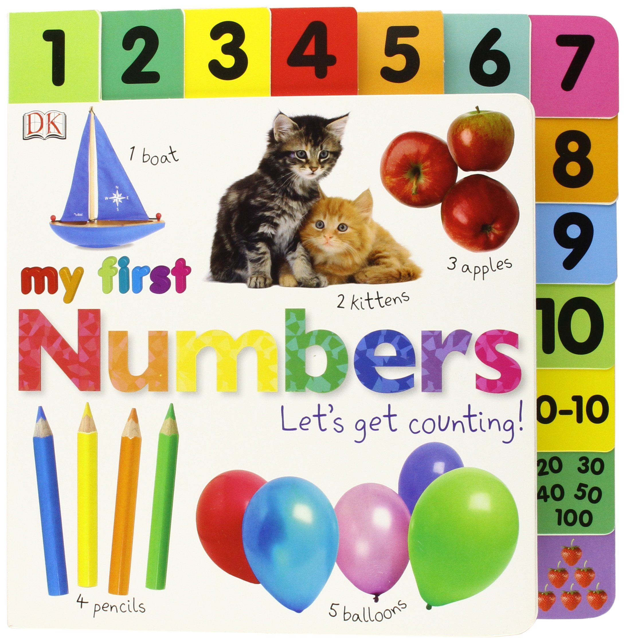 Tabbed Board Books Numbers Counting