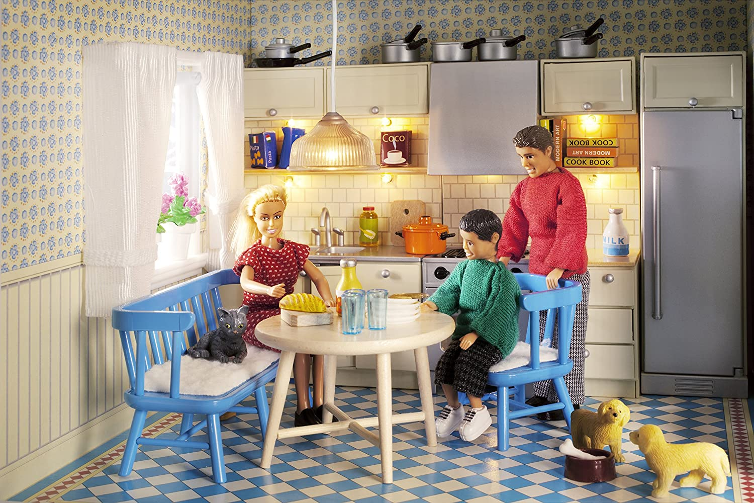 804a4d95b6fe Lundby 1:18 Scale Dolls House Smaland Kitchen Furniture Set: Amazon.co.uk:  Toys & Games